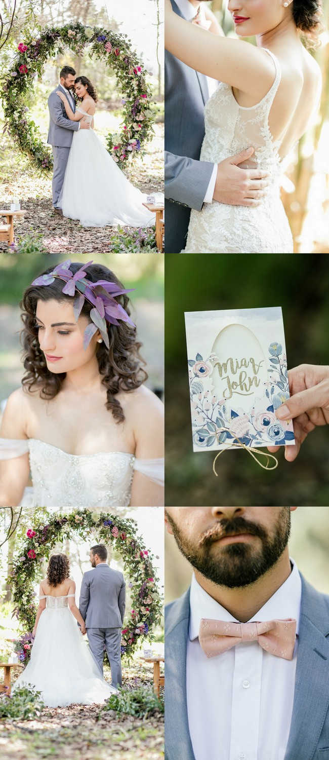 Outdoor Vows + A Giant Floral Wedding Ceremony Wreath!