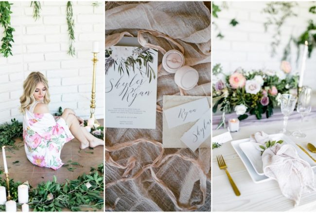 Decor + Details: Gold Mauve and Blush Pink Wedding {Ryann Lindsey}