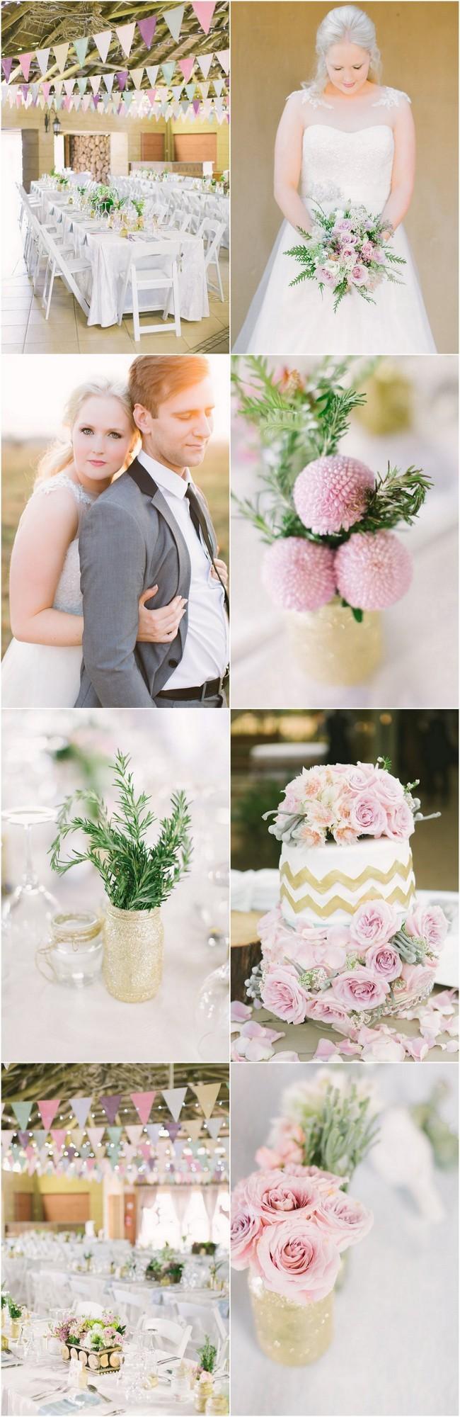 Handmade Pink Gold Glitter Wedding (19)