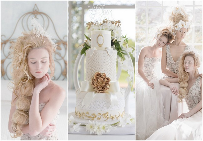 Rococo-Inspired Marie Antoinette Wedding Ideas {ST Photography}