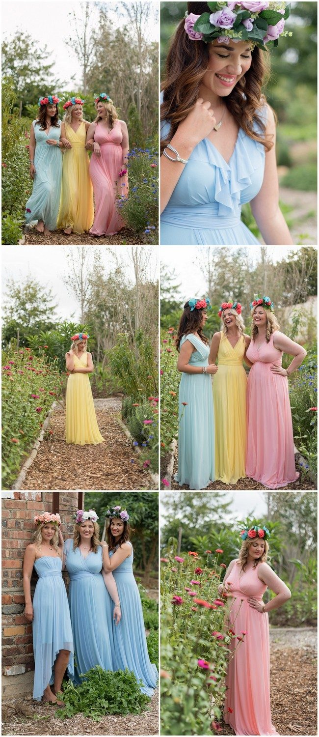 Tips for choosing beautiful Mix and Match Spring Bridesmaid dresses: https://www.confettidaydreams.com/mix-and-match-spring-bridesmaid-dresses/