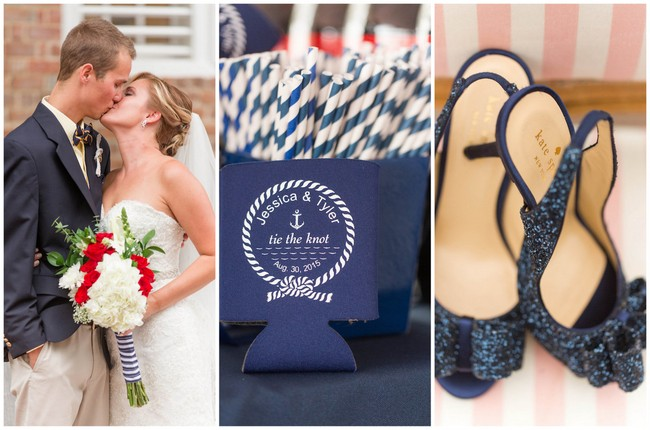 Stylish Nautical Wedding with Kate Spade Details {Jami Thompson Photography}