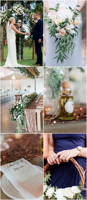 Peach Copper and Navy Eensgezind Durbanville Wedding