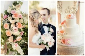 Peach Pink Palos Verdes Wedding - Figlewicz Photography