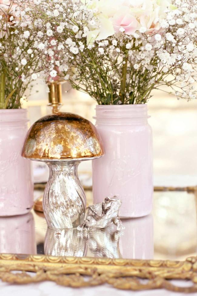Pink Alice in Wonderland Wedding 57