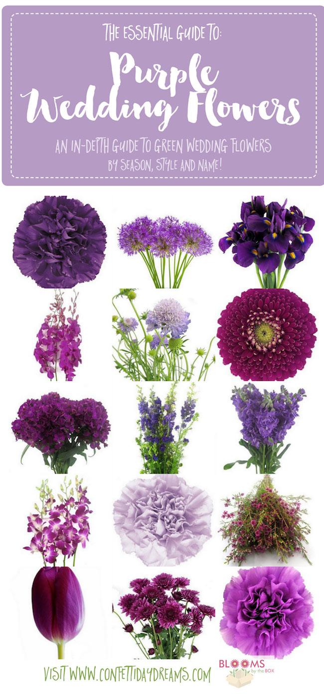 Purple Wedding Flower Names Types