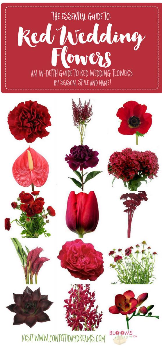 Red Wedding Flower Guide