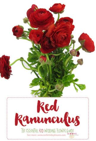 Red wedding flowers ...