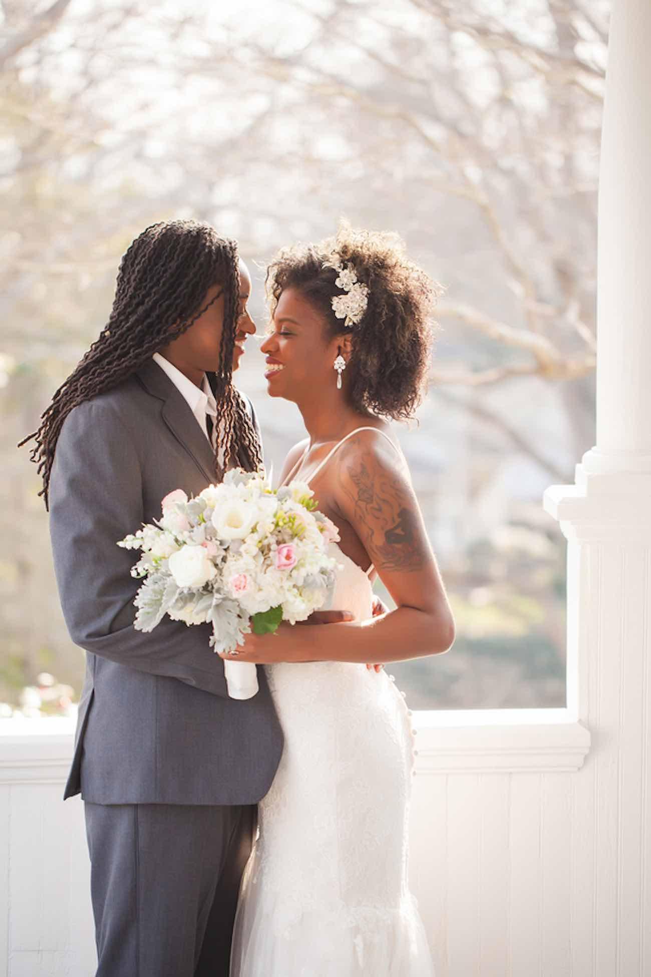 Beautiful Rose, Gold & Ivory Glitter Wedding - Casey Hendrickson Photography