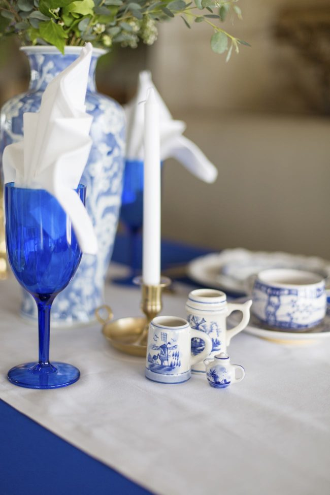 Royal Blue, Gold and White Grecian-inspired Wedding ideas. Sonje Ludwick Photography.