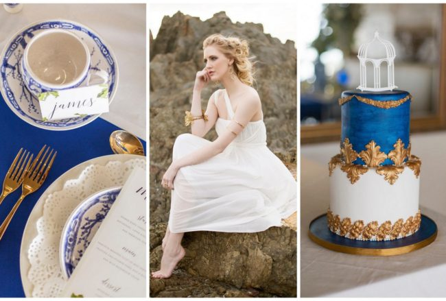 Royal Blue, Gold + White Grecian-Inspired Wedding Ideas {Sonje Ludwick Photography}