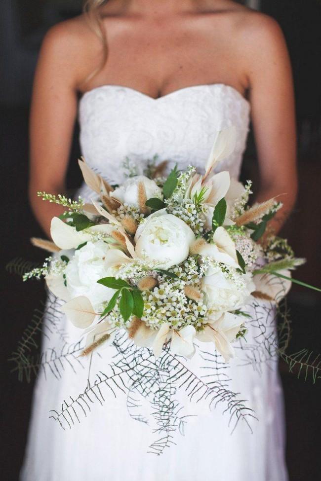 Rustic Cascade Wedding Bouquet