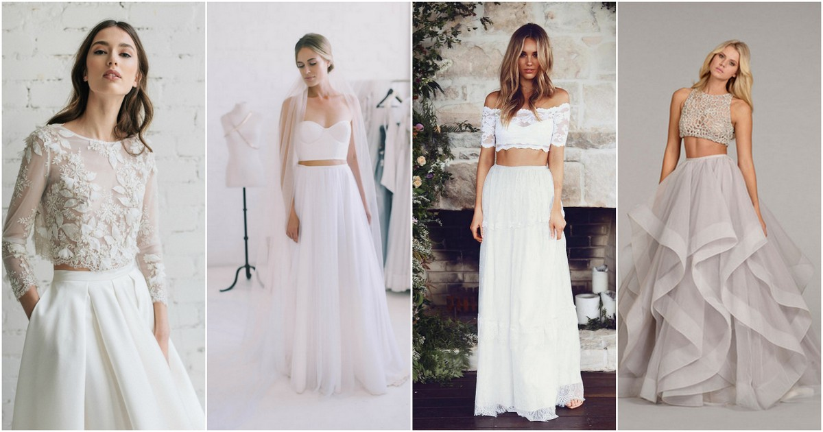2a8d1bba5 Possibly the Most Epic Selection of Two Piece Wedding Dress Bridal Separates  Ever!