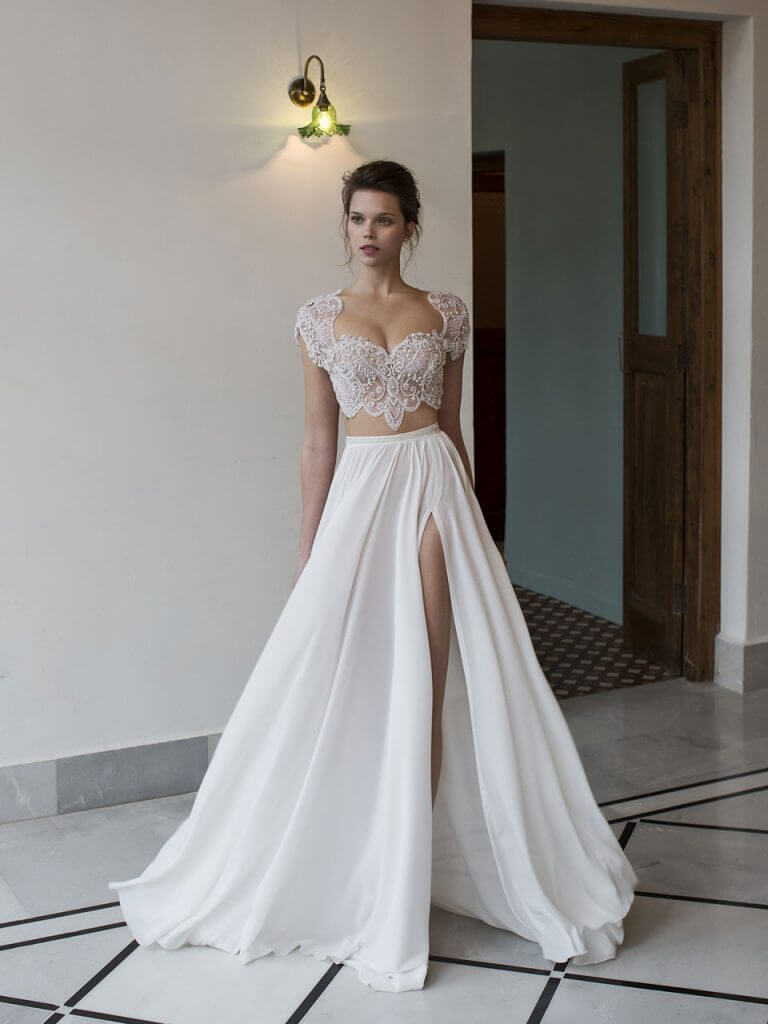 c2a6187139a Possibly the Most Epic Selection of Two Piece Wedding Dress Bridal Separates  Ever!