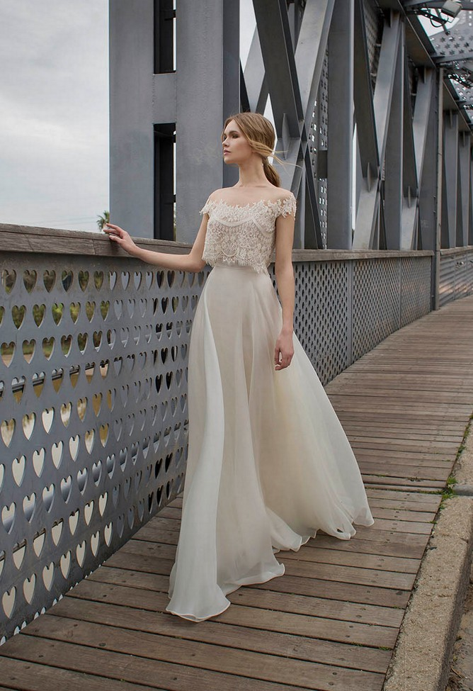 a767c82752a5ed Possibly the Most Epic Selection of Two Piece Wedding Dress Bridal ...