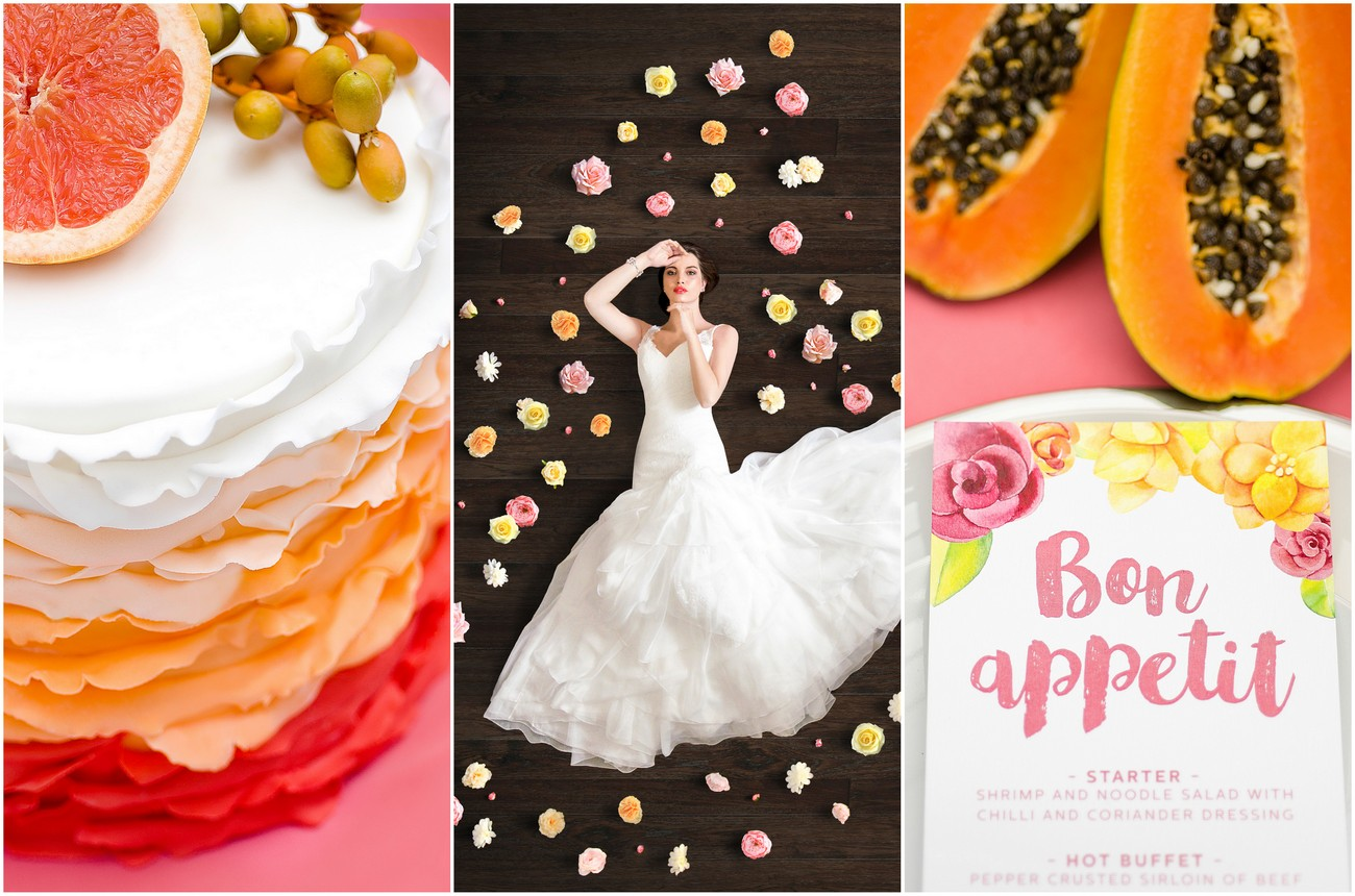 Vibrant Grapefruit, Yellow, Coral + Citrus wedding {Kaitlyn de Villiers photography}