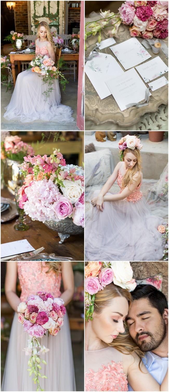 Whimsical Coral Garden Wedding