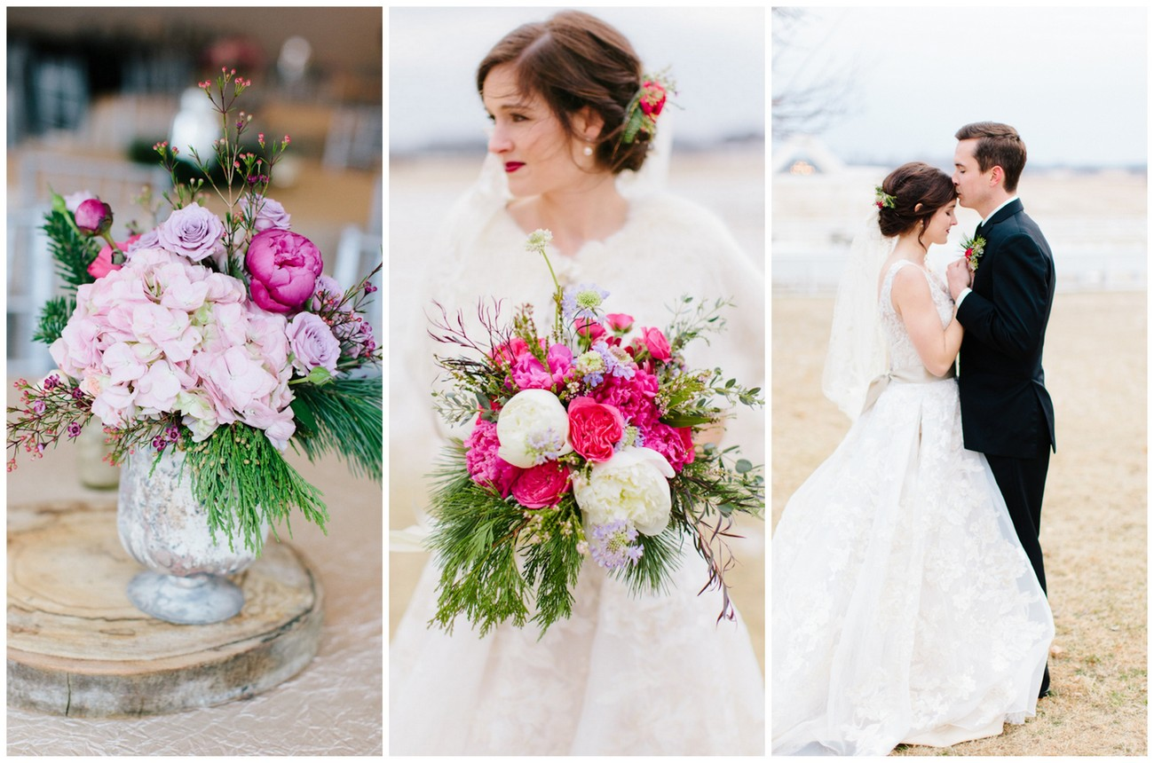 Pink + Lavender Winter Colorado Wedding {Sarah Libby Photography}