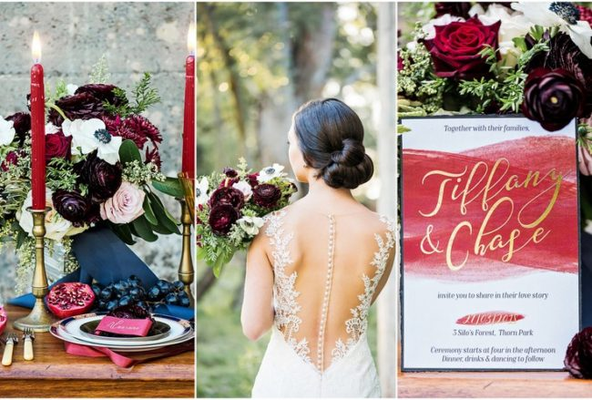 Decor + Details: Romantic Burgundy Red and Navy Blue Wedding {Astrid Bradley Photography}