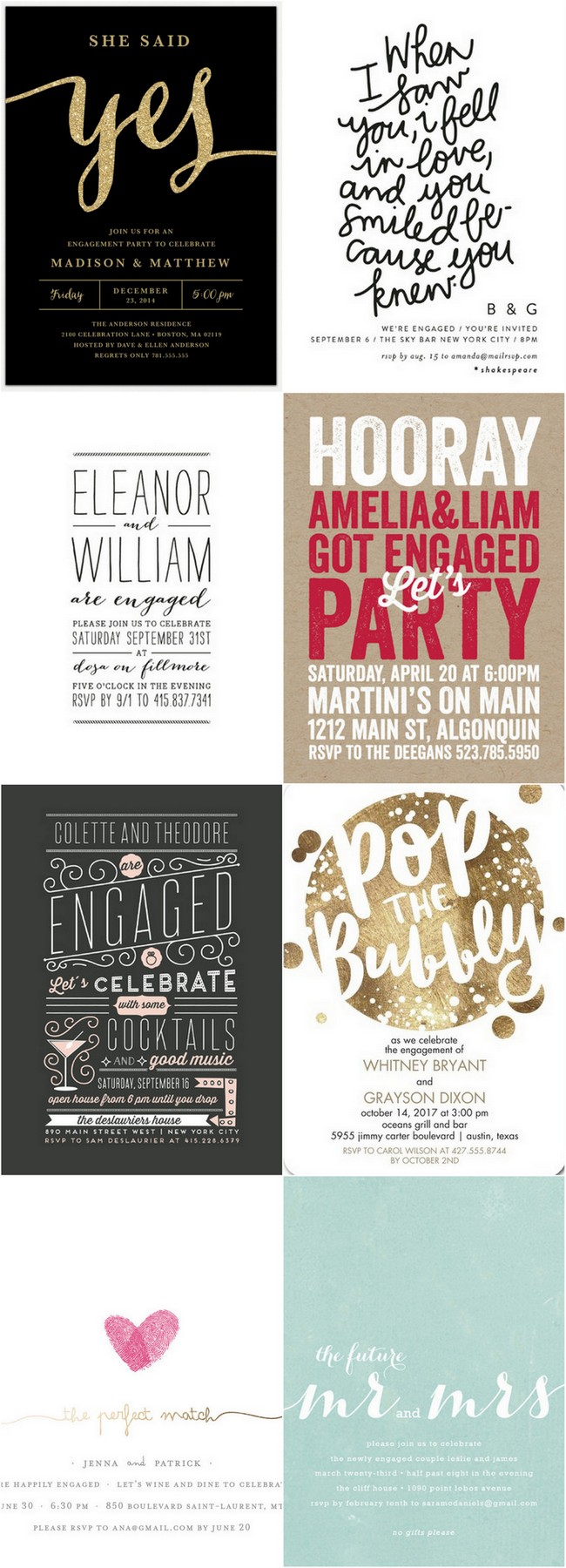 22 Engagement Party Invitations to Get Your Celebrations Started!